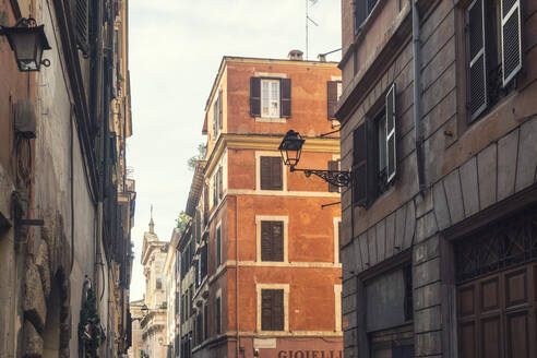 Facades at the historic old town, Rome, Italy - TAMF01967