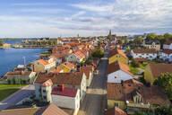 View of the old city in summer, Västervik, Kalmar, Sweden - TAMF01985