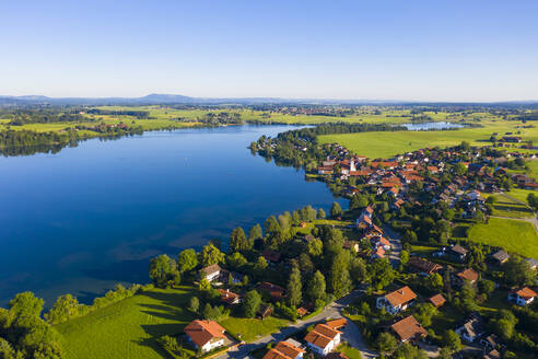 Riegsee lake by village in Upper Bavaria, Germany - LHF00662