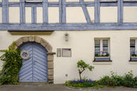 Closed door of old house in Franconia, Bavaria, Germany - LBF02648
