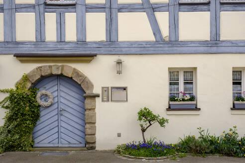 Fachwerkhaus, Landhausstil, Leutershausen, Oberes Altmühltal, Mittelfranken, Franken, Bayern, Deutschland, - LBF02648