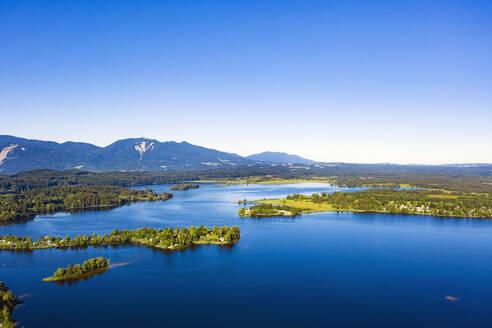 Staffelsee mit Gradeninsel, Gradeneiland, Insel Buchau und W�rth, Bayerisches Alpenvorland, Oberbayern, Bayern, Deutschland, - LHF00666
