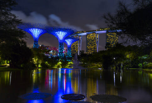Singapore, Singapore, Gardens by the Bay with Supertree Grove - HSI00712