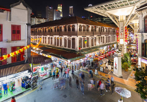 Singapore, Singapore, Chinatown market and food courts - HSIF00718