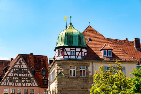 Exterior of historic buildings at Weissenburg, Bavaria, Germany - SPCF00444
