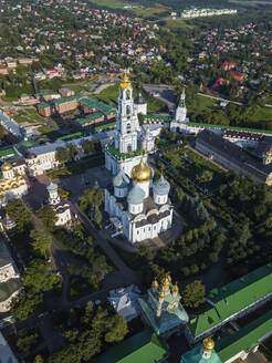 Aerial view of Trinity Lavra Of St. Sergius, Moscow, Russia - KNTF03005