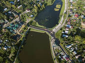 Aerial view of Sergiev Posad town, Moscow, Russia - KNTF03018