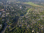 Aerial view of Sergiev Posad town, Moscow, Russia - KNTF03033