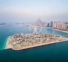 Aerial view of Bluewaters island in Dubai, UAE - AAEF01067