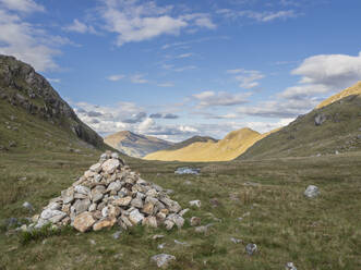 Scenic view of landscape against sky, Scotland, UK - HUSF00054