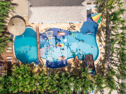 Aerial view of a public swimming pool - AAEF01536