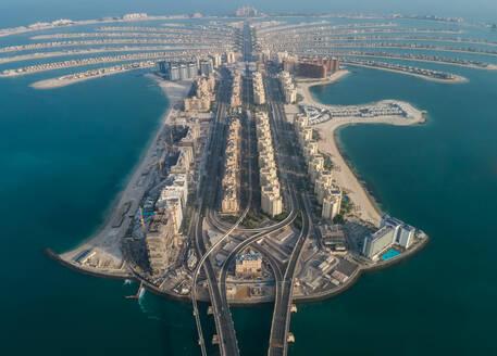 Aerial view of The Palm Jumeirah in Dubai, United Arab Emirates - AAEF01768