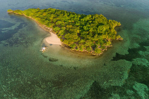 Aerial view of Sulpa island in Philippines. - AAEF01783