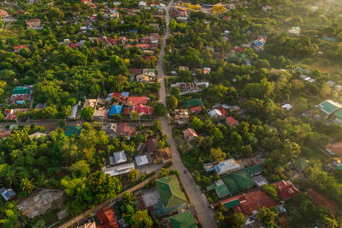 Aerial view of residential district of Fort San Pedro, philippines - AAEF01825