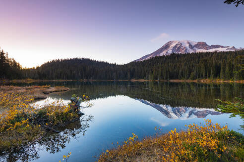 Reflection Lake, Mount Rainier National Park, Washington State, United States of America, North America - RHPLF00211