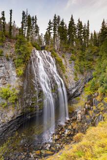 Narada Falls, Mount Rainier National Park, Washington State, United States of America, North America - RHPLF00214