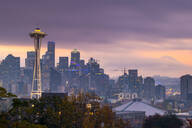View of the Space Needle from Kerry Park, Seattle, Washington State, United States of America, North America - RHPLF00217