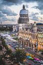 The Gran Teatro de La Habana and El Capitolio at sunset, Havana, Cuba, West Indies, Caribbean - RHPLF00316