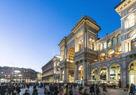 Galleria Vittorio Emanuele II at the Cathedral Square (Doumo) in Milan, Lombardy, Italy, Europe - RHPLF00331