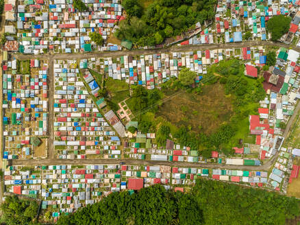 Aerial abstract view of residential district of Cebu city, Philippines. - AAEF02426