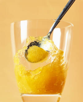 Mango fruit ice cream sorbet in a glass - PPXF00239