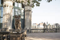 View of statues against Zwinger in Saxony, Germany - CHP00551