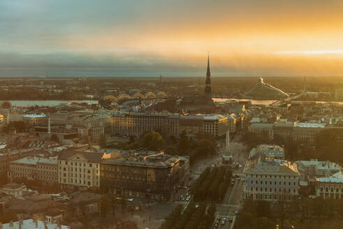 View of the city from above, Riga, Latvia - TAMF02086