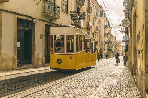 Classic cable tram lift in Lisbon, Portugal - TAM02122