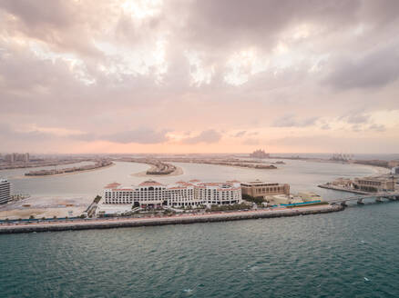 Aerial view of a resort on the Palm Jumeirah in Dubai, UAE - AAEF02871