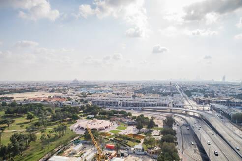 Aerial view of a part of Safa park in Dubai, U.A.E. - AAEF02874