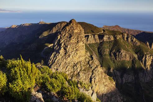Roque de Agando, Garajonay National Park, UNESCO World Heritage Site, La Gomera, Canary Islands, Spain, Atlantic, Europe - RHPLF00486