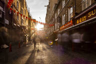 Long exposure of Lisle Street, Chinatown in the afternoon near Piccadilly Circus, London, England, United Kingdom, Europe - RHPLF00564