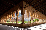 Santa Maria Nuova Cathedral, the cloister, Monreale, Palermo, Sicily, Italy, Europe - RHPLF00923
