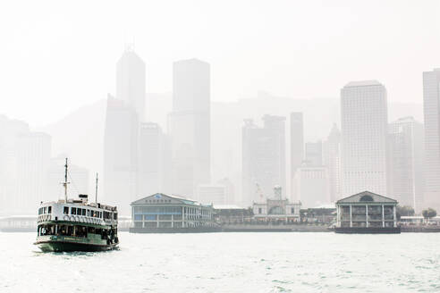 Star Ferry leaving Central Pier, Hong Kong, China, Asia - RHPLF01001