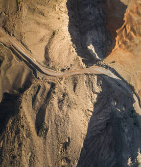 Aerial view of an empty road in the Sharjah desert, UAE - AAEF03159