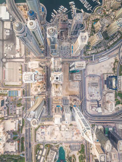 Aerial view of modern towers in downtown Dubai, UAE - AAEF03180