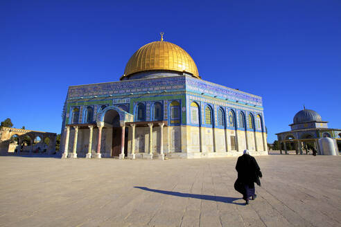 The Dome of the Rock, Temple Mount, UNESCO World Heritage Site, Jerusalem, Israel, Middle East - RHPLF01143