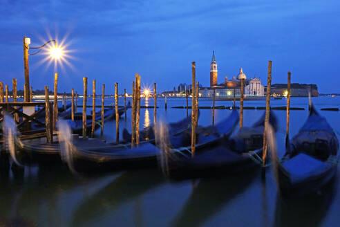 View towards the Island of San Giorgio Maggiore, Venice, UNESCO World Heritage Site, Veneto, Italy, Europe - RHPLF01272