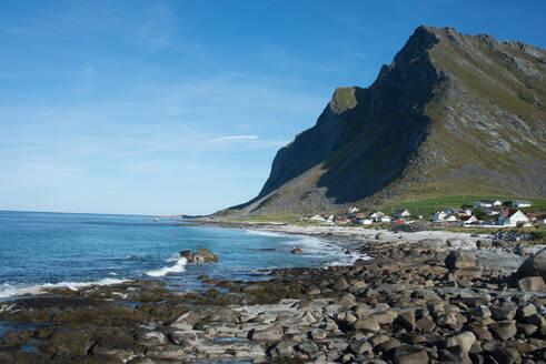 Overlooking Vikten, Lofoten Islands, Nordland, Norway, Scandinavia, Europe - RHPLF01744