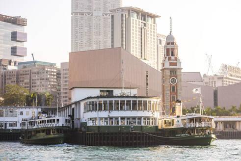 Star Ferry between Hong Kong Island and Kowloon, Hong Kong, China, Asia - RHPLF03596