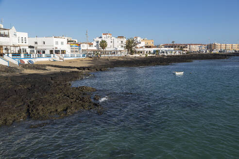 The waterfront of old town Corralejo on the island of Fuerteventura, Canary Islands, Spain, Atlantic, Europe - RHPLF03931