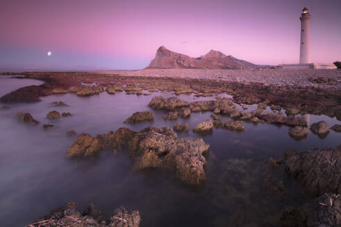 Lighthouse at sunset, San Vito Lo Capo, province of Trapani, Sicily, Italy, Mediterranean, Europe - RHPLF03997