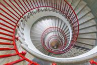 View of spiral staircase in The Skyscraper, Ljubljana, Slovenia, Europe - RHPLF04297