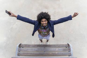 Portrait of happy stylish man - AFVF03858