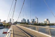 Holbeinsteg footbridge over river against clear sky in Frankfurt, Germany - WDF05419