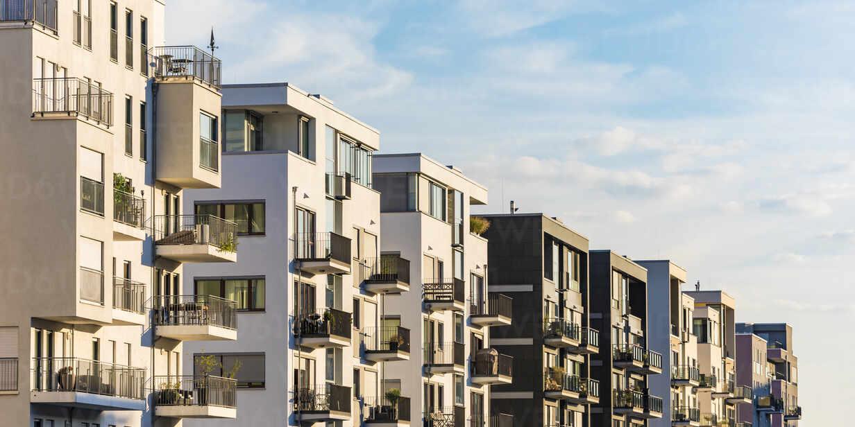 Exterior Of Modern Residential Buildings Against Sky In Frankfurt Germany Wdf05422 Werner Dieterich Westend61