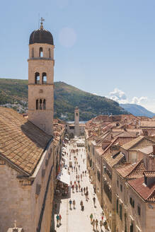 Old town from the city walls, UNESCO World Heritage Site, Dubrovnik, Croatia, Europe - RHPLF06115