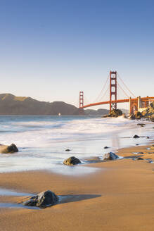 Golden Gate Bridge from Marshall's Beach, San Francisco, California, United States of America, North America - RHPLF06139