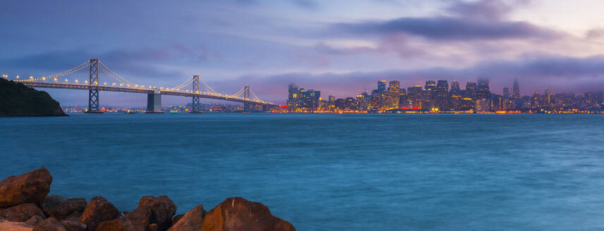 City skyline from Treasure Island, San Francisco, California, United States of America, North America - RHPLF06160
