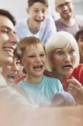 Three generations family having fun at home - MCF00248